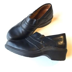 Ariat steel toe black safety expert work clogs 8.5